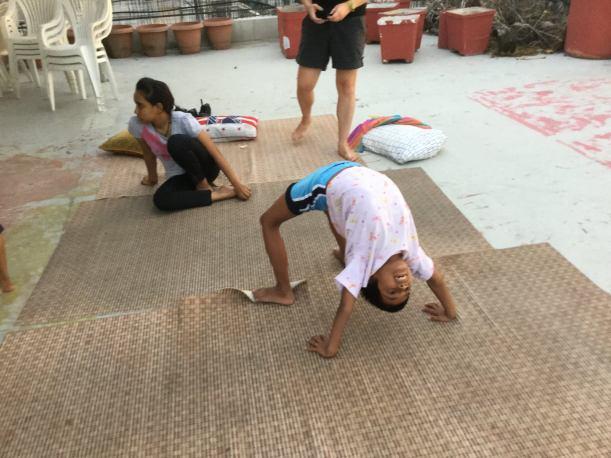 yoga and girls